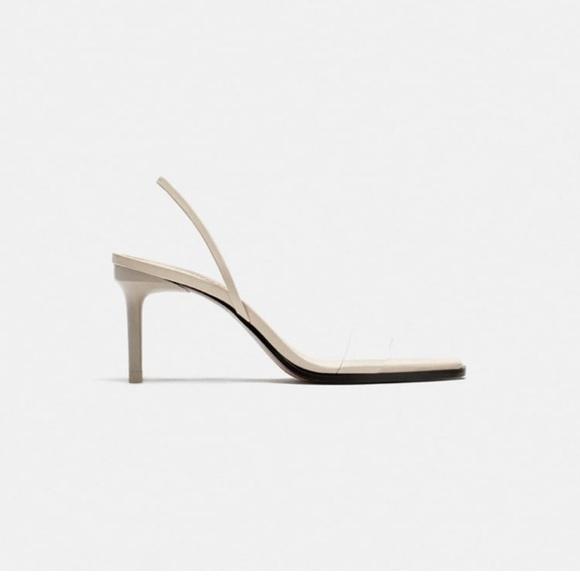 Moat popular zara sandal with a clear toe. Sz42
